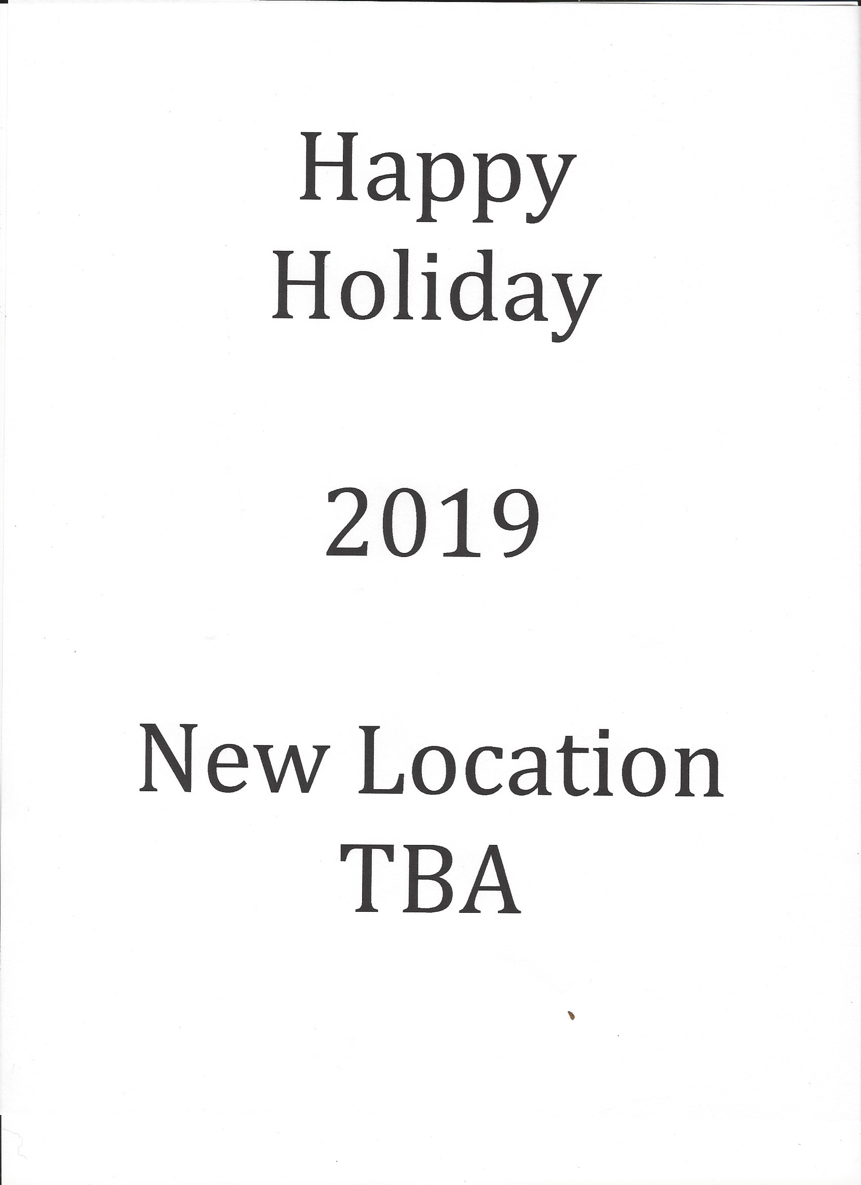 ACSD Holiday new location 2019